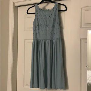 NWOT LOFT Eyelet Tank Top Lined Dress